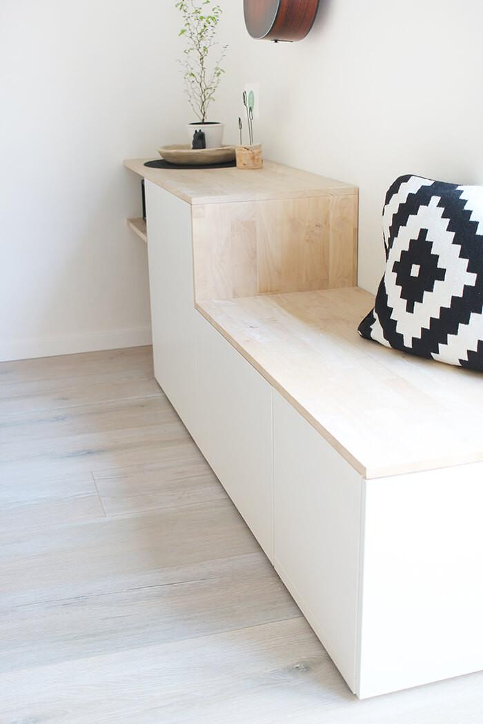 Sitzbank Diy  Do it yourself Aus Besta und Holz wird ein Sideboard mit