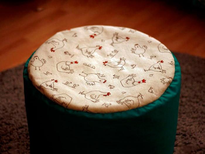 Sitzsack Diy  DIY Sitzsack von All JuNied Wohnen Leben bei DaWanda