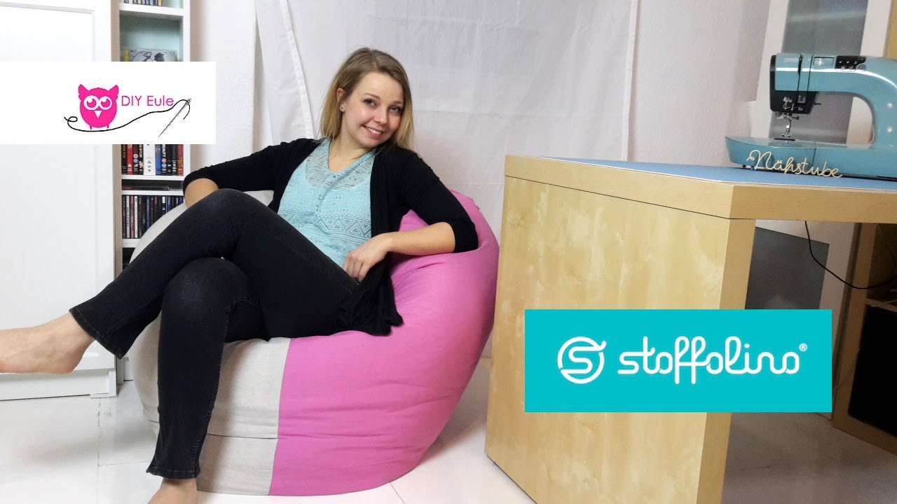 Sitzsack Diy  Sitzsack nähen DIY Eule & Stoffolino