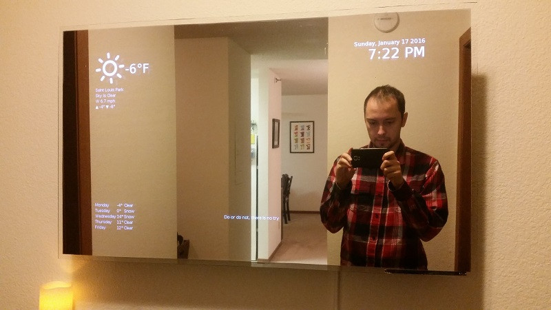 Smart Mirror Diy  Make your own smart mirror out of a TV and a Raspberry Pi