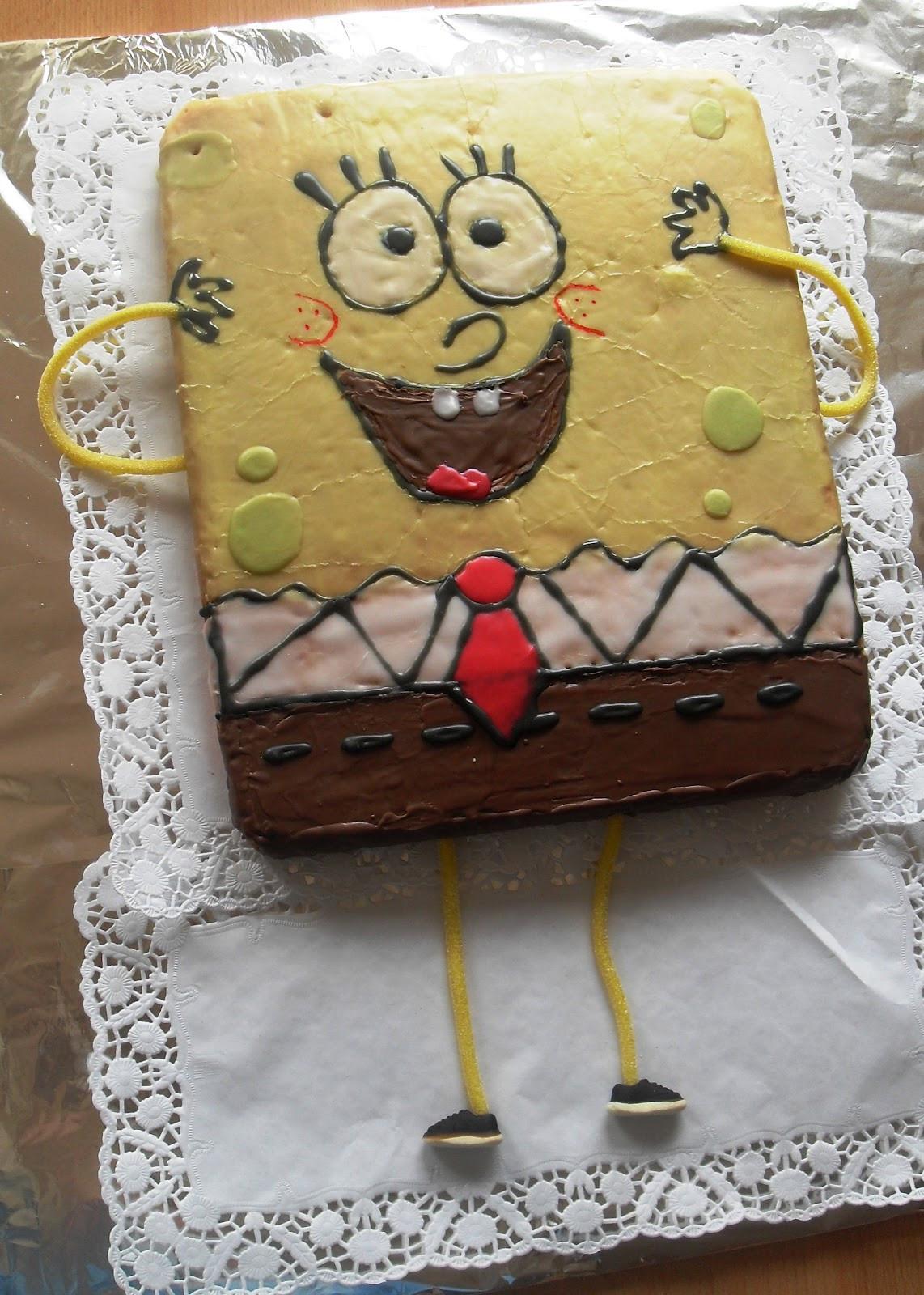 Spongebob Kuchen  Sanna´s Hexenküche Spongebob Kuchen zum Kindergeburtstag