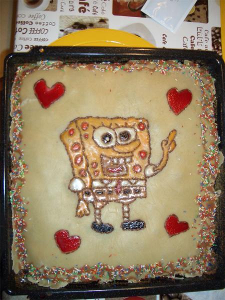 Spongebob Kuchen  Meine Koch Backversuche o Fotoalbum