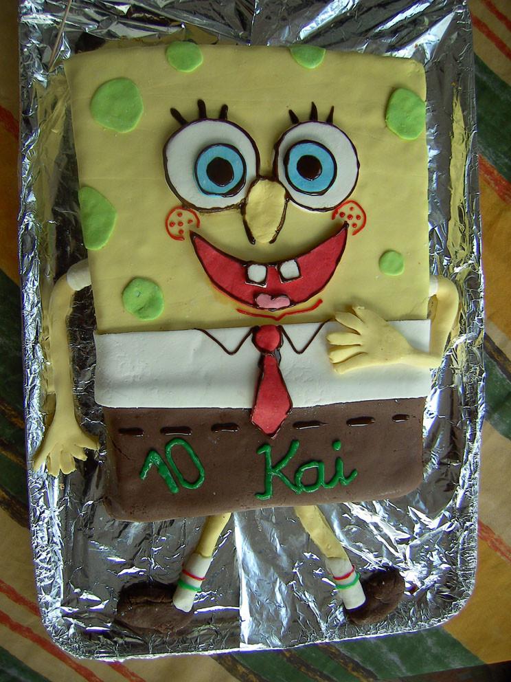 Spongebob Kuchen  Geburtstag Kinder Spongebob Kuchen
