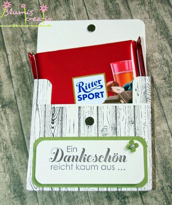 Sport Geschenke  Blumis kreativ Blog Ritter Sport zum Vatertag
