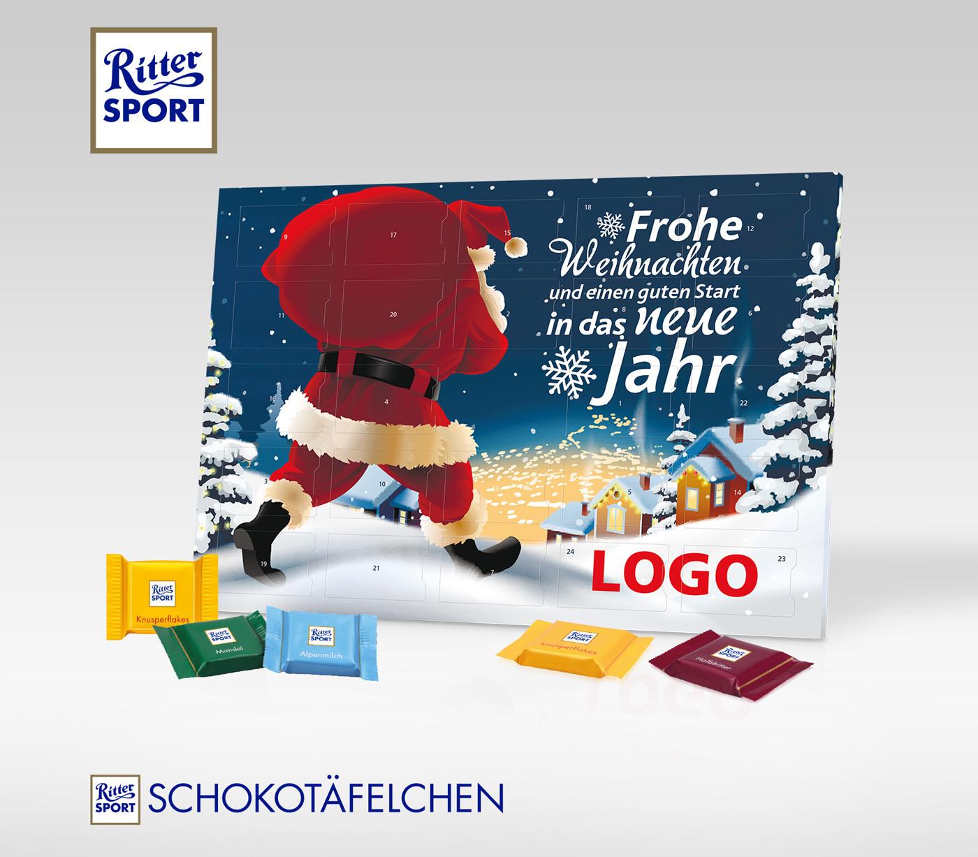 Sport Geschenke  Tisch Adventskalender Ritter Sport Geschenke