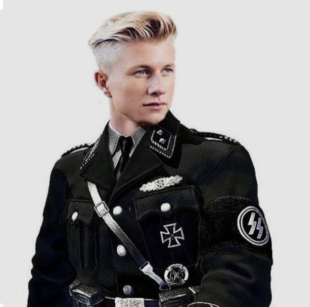 Ss Haarschnitt  Portrait of War Germany The ideal Aryan