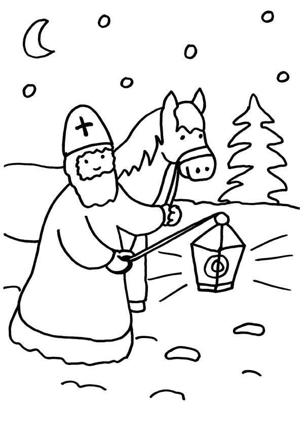 St Martin Malvorlagen  Kostenlose Malvorlage Sankt Martin Sankt Martin mit Pferd