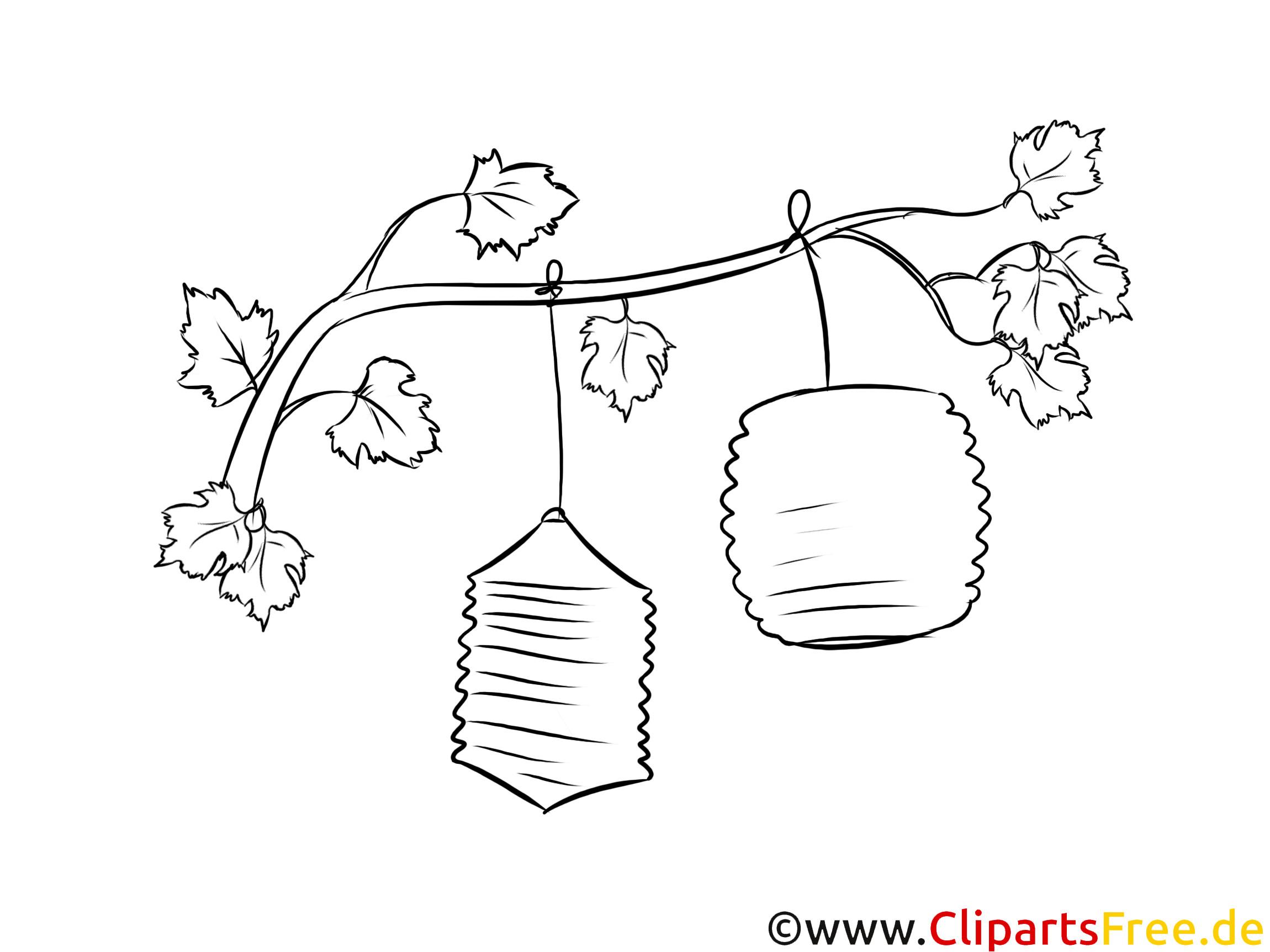 St Martin Malvorlagen  Laternen am Baum Ausmalbild zum Runterladen und Drucken