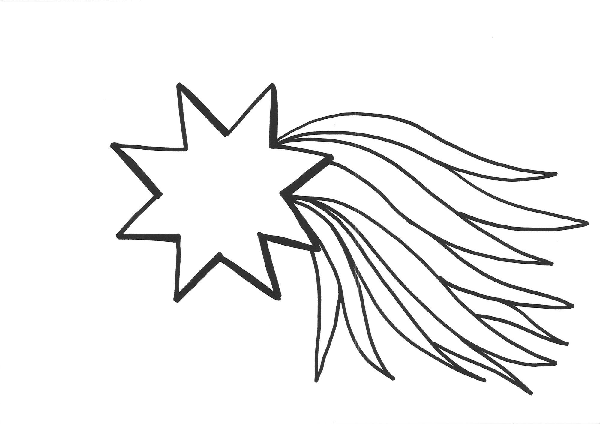 Sterne Ausmalbilder  Kostenlose Malvorlage Schneeflocken und Sterne Malvorlage