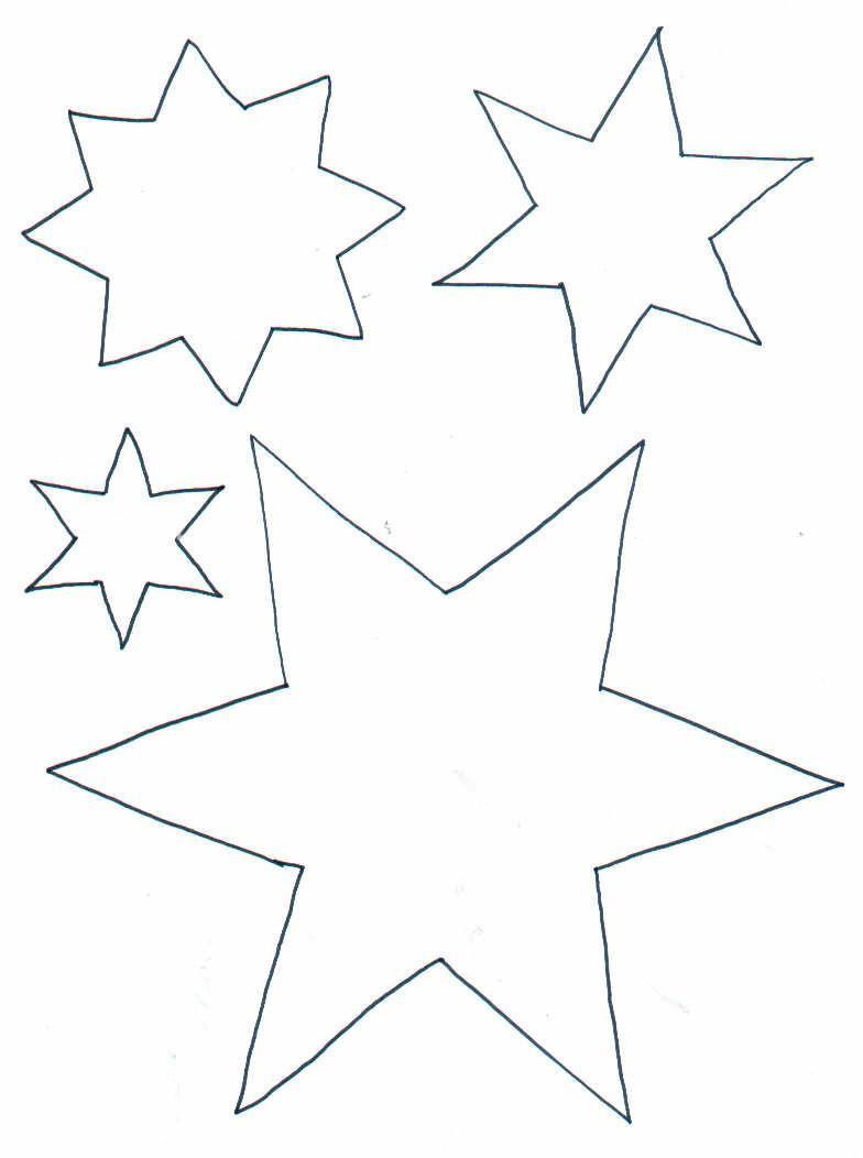 Sterne Ausmalbilder  Malvorlage Sterne