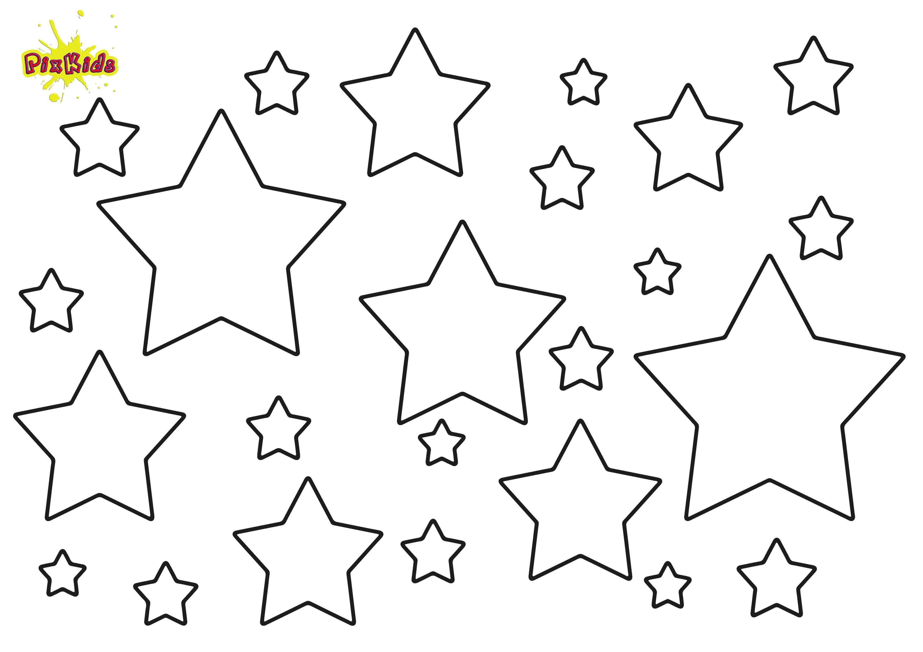 Sterne Ausmalbilder  Ausmalbild Sterne kostenlose Malvorlage