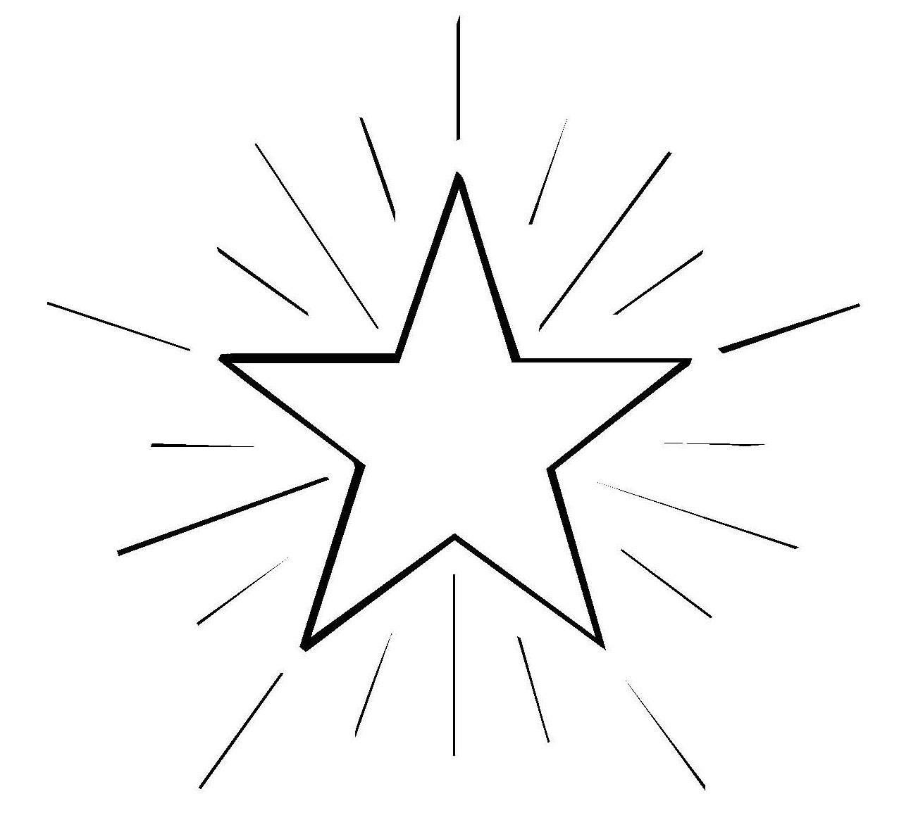 Sterne Ausmalbilder  Kostenlose Malvorlage Schneeflocken und Sterne Stern 4