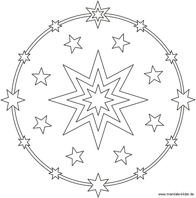 Sterne Ausmalbilder  Ausmalbild mit vielen Sternen zum Ausdrucken