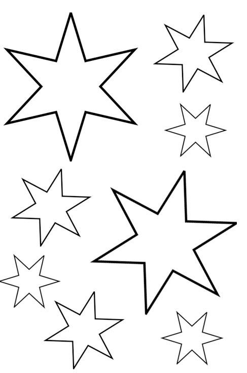 Sterne Ausmalbilder  Sterne Malvorlagen zum Ausdrucken