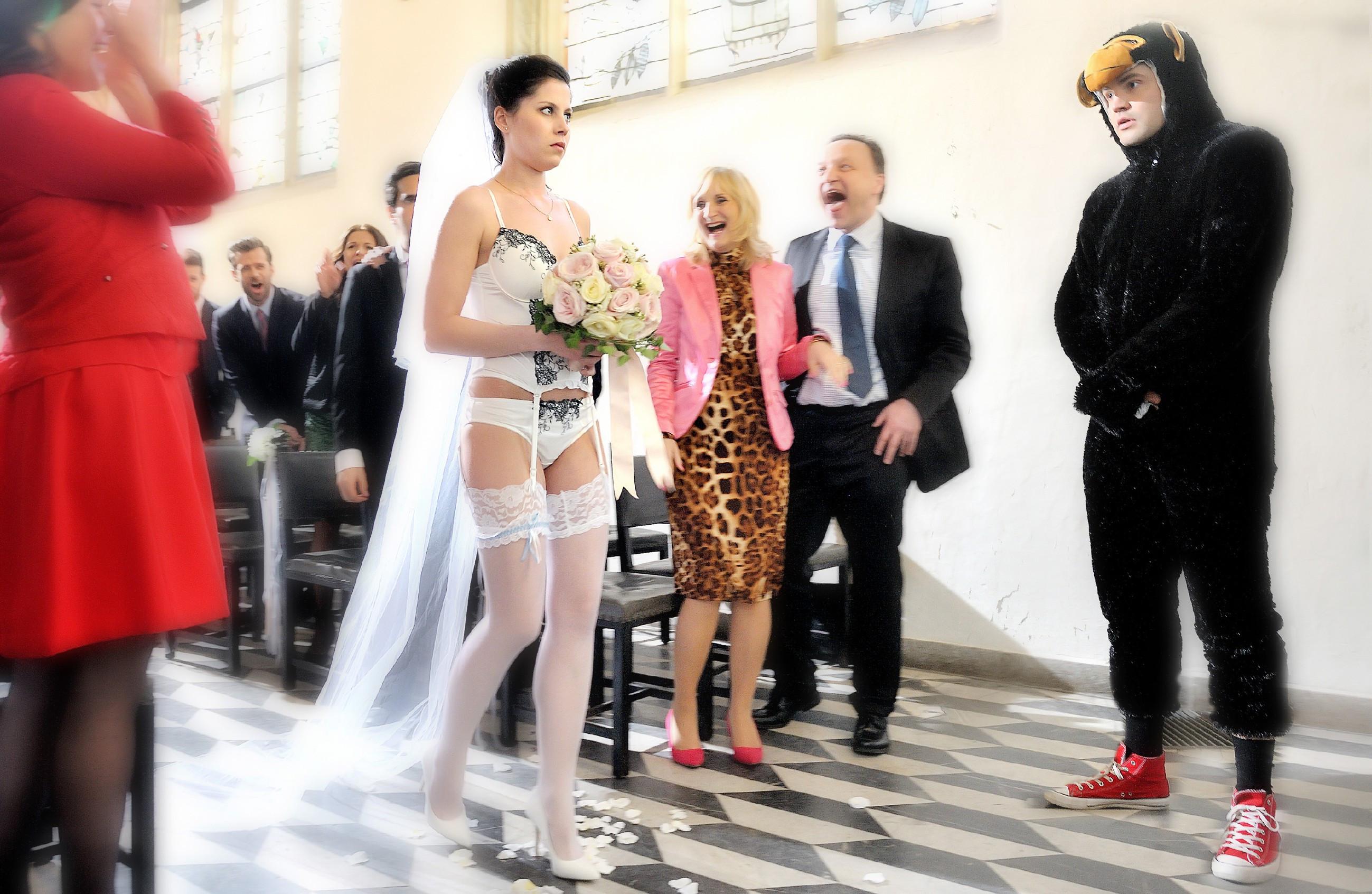 """Strumpfhose Hochzeit  """"Unter Uns"""" Hochzeit in Strapsen"""