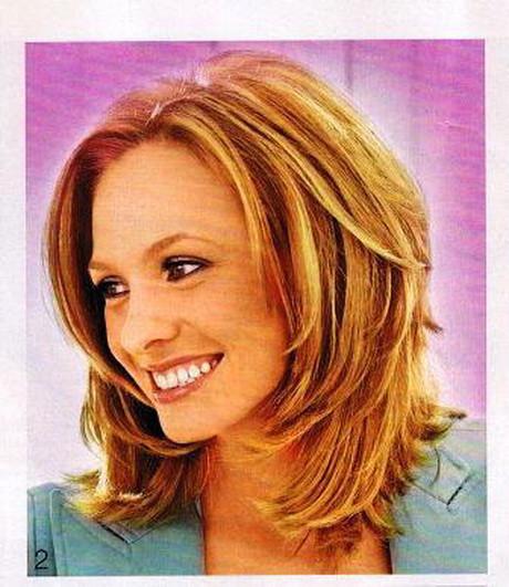 Stufiger Haarschnitt  Frisuren für mollige frauen