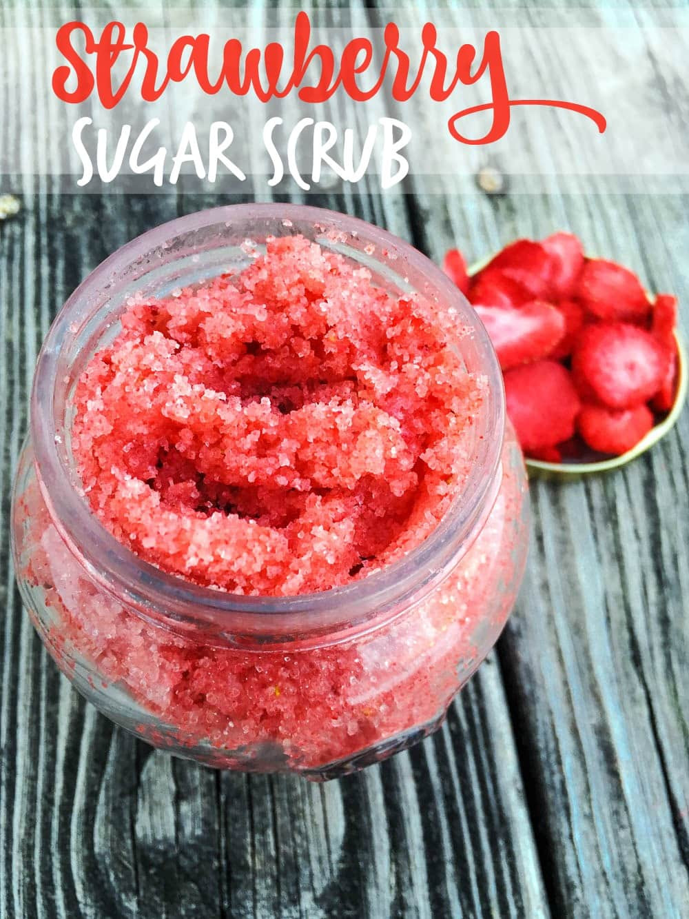 Sugar Scrub Diy  DIY Strawberry Sugar Scrub