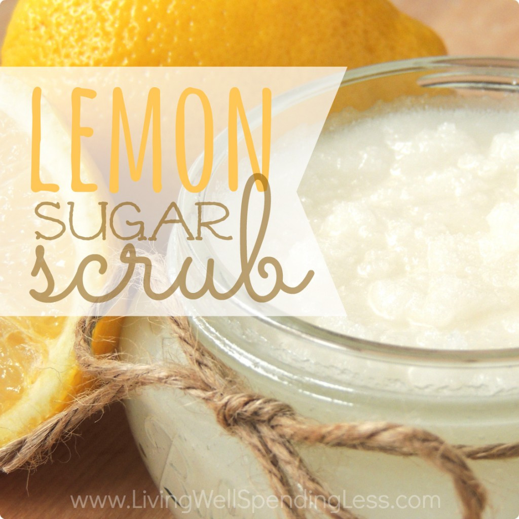 Sugar Scrub Diy  DIY Lemon Sugar Scrub Living Well Spending Less