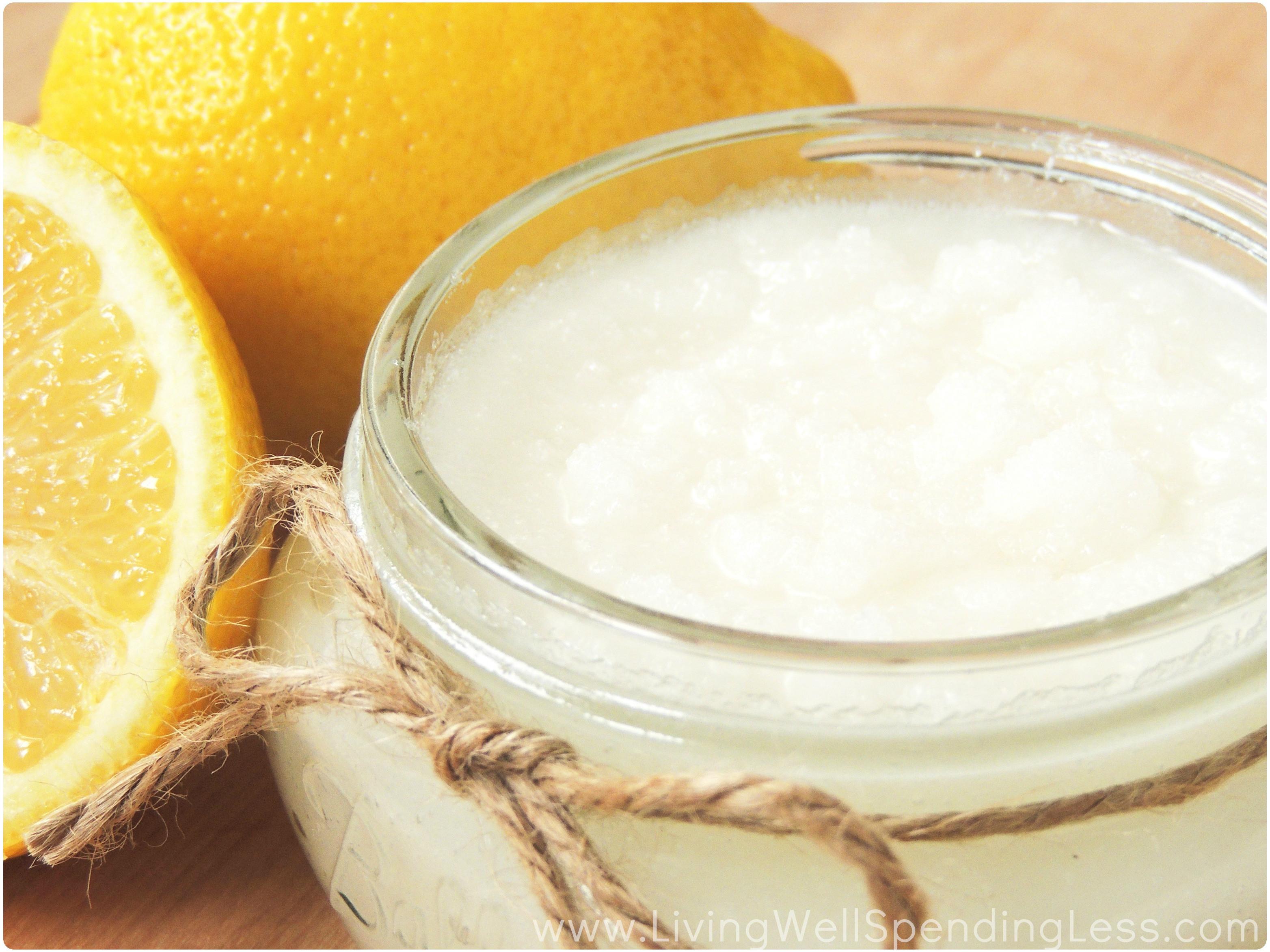 Sugar Scrub Diy  DIY Lemon Sugar Scrub