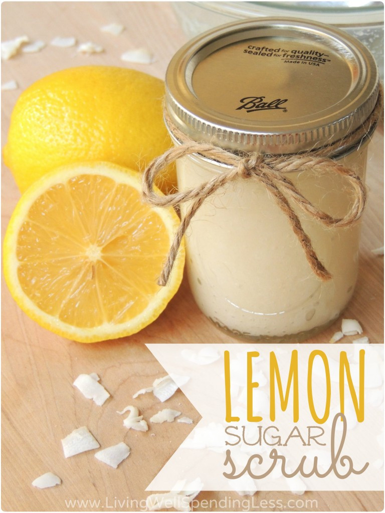 Sugar Scrub Diy  DIY Lemon Sugar Scrub Living Well Spending Less