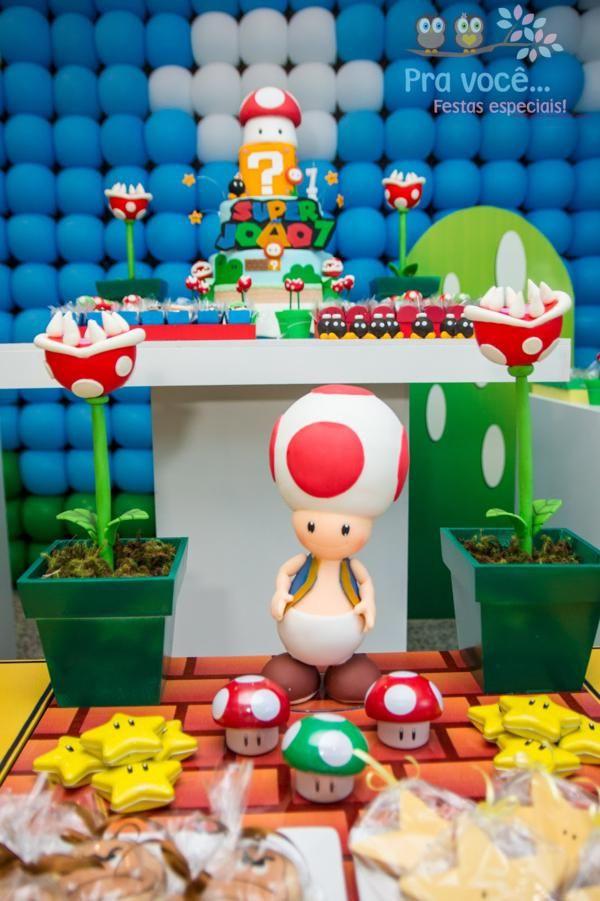 Suppe Für Geburtstagsparty  Super Mario Party Kids Party Ideas
