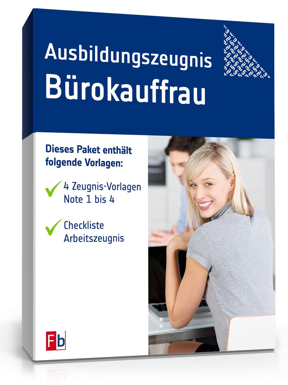 Tarifvertrag Bürokauffrau Handwerk  Ausbildungszeugnis Bürokauffrau Muster zum Download