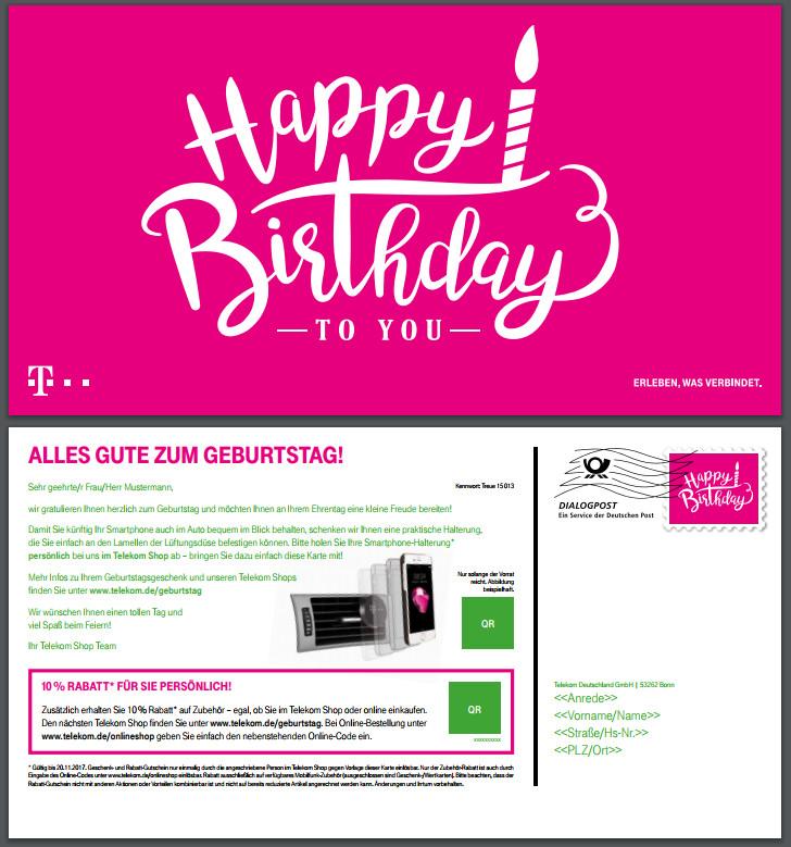 Telekom Geburtstagsgeschenk  Gelöst AW Geburtstagsgeschenk einlösen