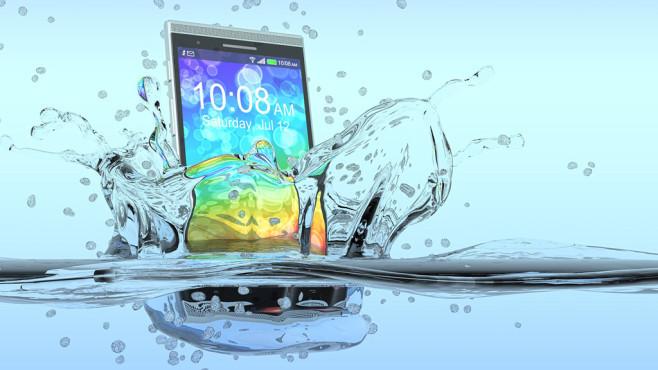 Telekom Geburtstagsgeschenk  Samsung Galaxy S7 ging baden PUTER BILD