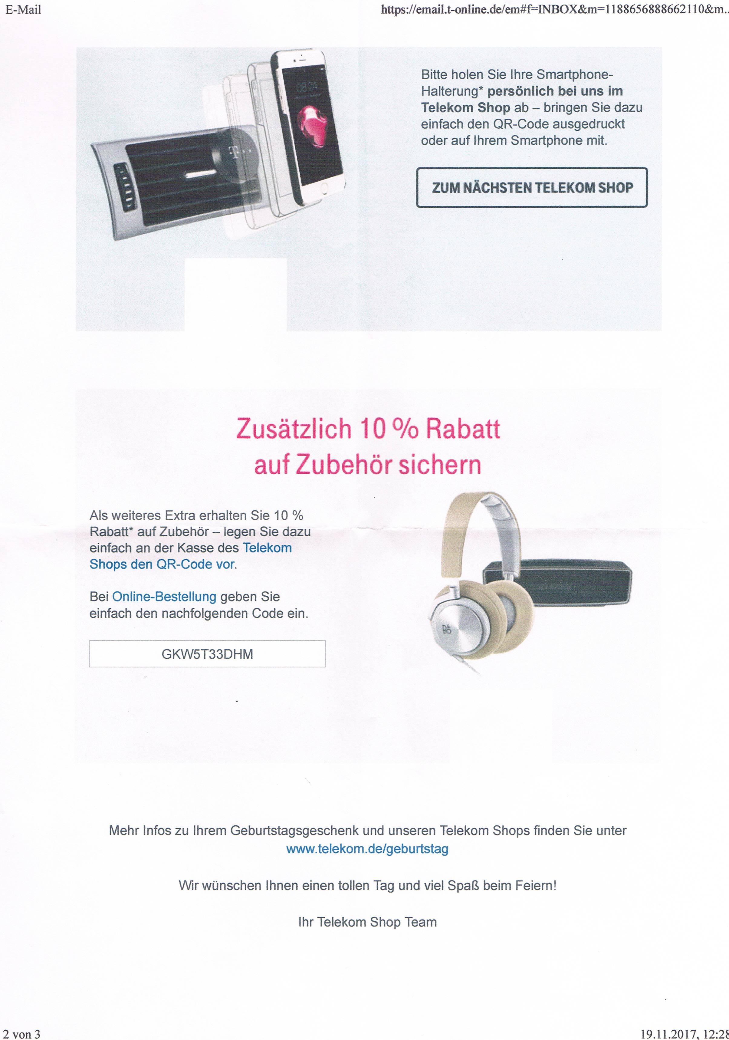 Telekom Geburtstagsgeschenk  Gelöst AW Geburtstagsgeschenk Persönlicher Geschenk code