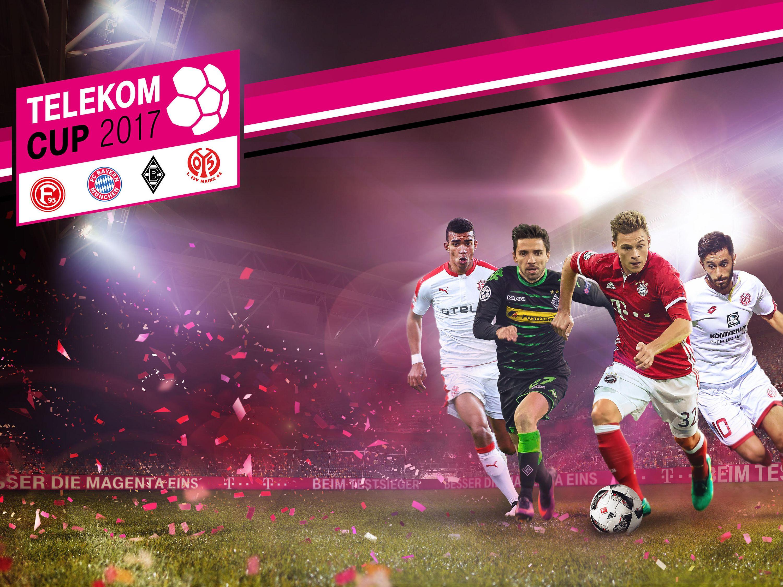 Telekom Powerbank Geburtstagsgeschenk 2017  Telekom Cup 2017 – Spitzenfußball vor Start der Bundesliga