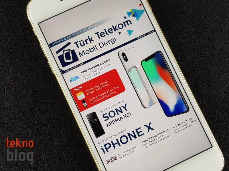 Telekom Powerbank Geburtstagsgeschenk 2017  Türk Telekom Mobil Dergi Aralık 2017 sayısı yayında