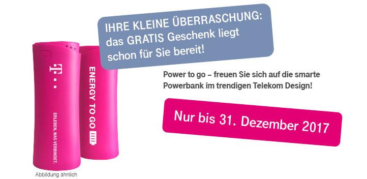 Telekom Powerbank Geburtstagsgeschenk 2017  Kostenlose Powerbank durch line Umfrage bei der Telekom
