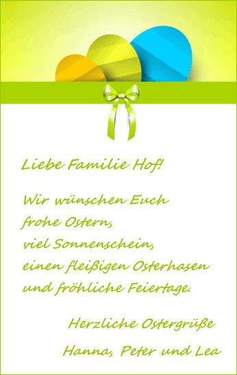 Texte Für Geburtstagskarten  Mustertexte für Ostergrüße