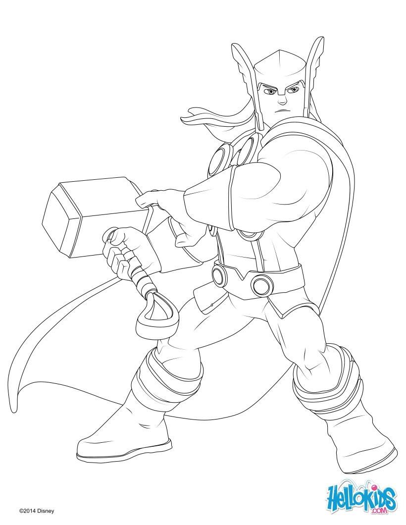 Thor Ausmalbilder  Thor zum ausmalen de hellokids