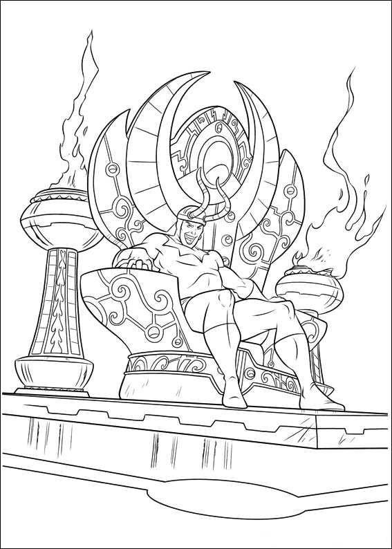 Thor Ausmalbilder  kleurplaten en zo Kleurplaat van Thor