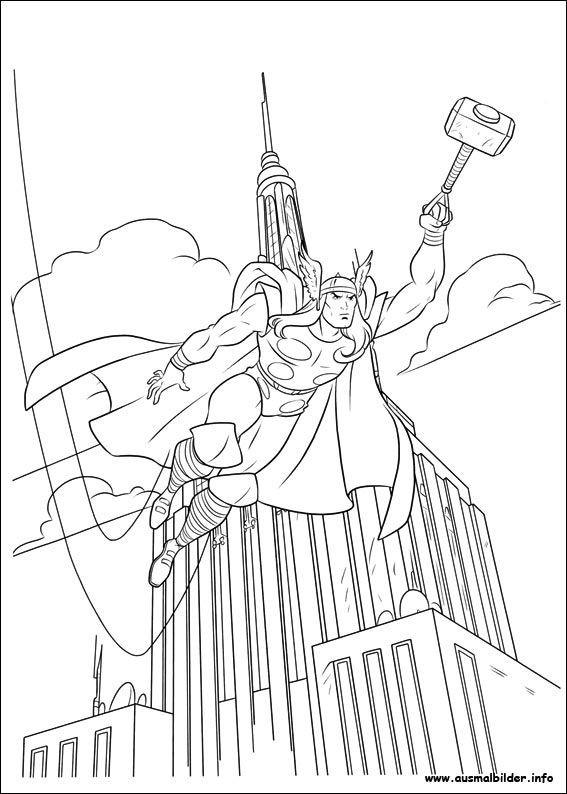 Thor Ausmalbilder  9 besten Thor Malvorlagen Bilder auf Pinterest