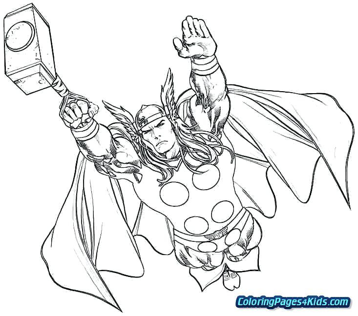 Thor Ausmalbilder  Thor Malvorlagen Coloring Pages Thor Malvorlagen Zum