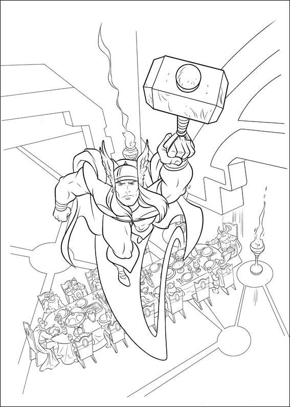 Thor Ausmalbilder  Desenhos do Thor para Colorir e Imprimir