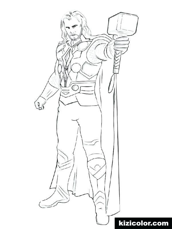 Thor Ausmalbilder  Thor Malvorlagen Avengers Avengers Gratis Thor Malvorlagen
