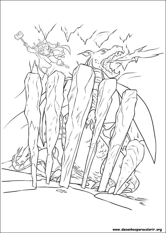 Thor Ausmalbilder  Thor para colorir
