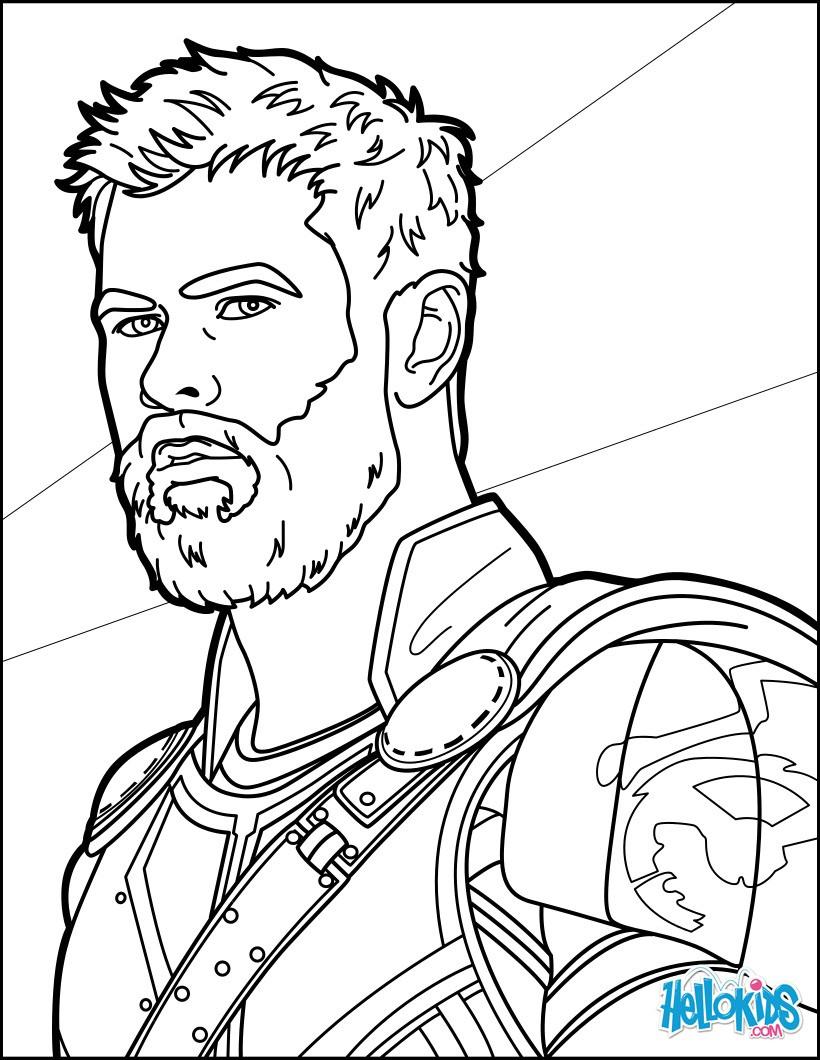 Thor Ausmalbilder  Thor ragnarok zum ausmalen de hellokids