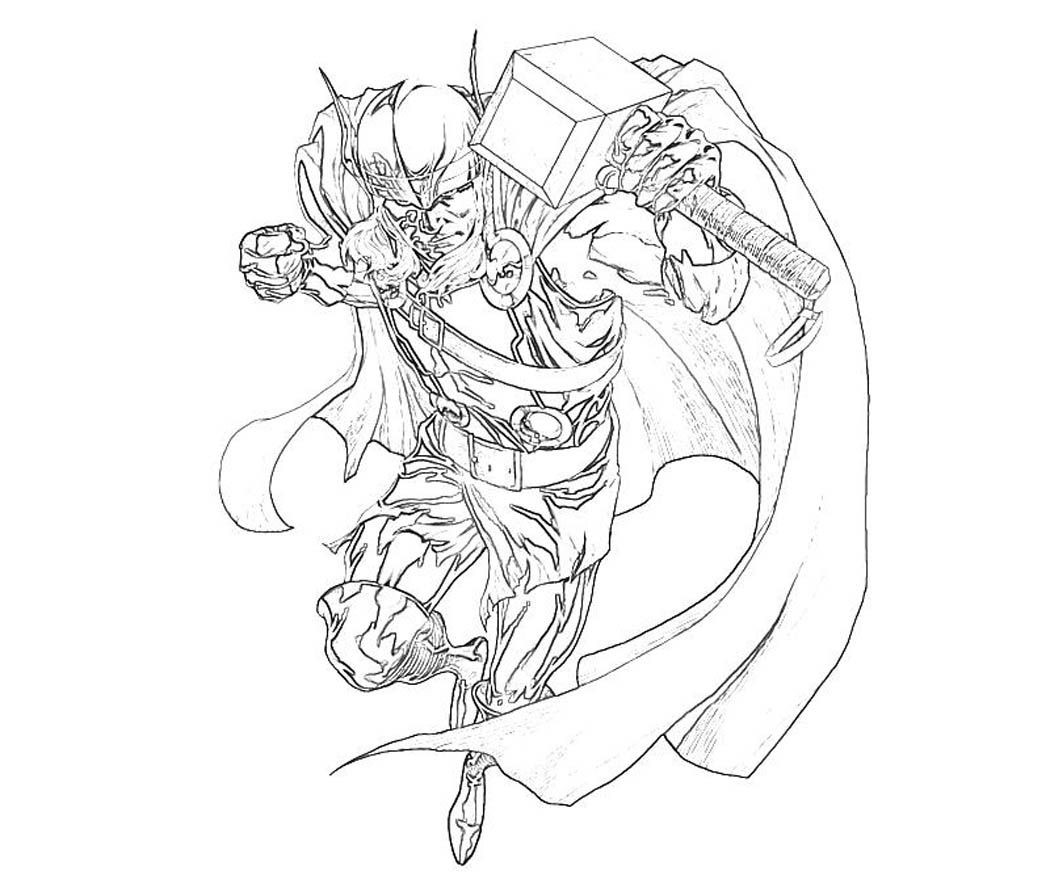 Thor Ausmalbilder  Thor Coloring Pages Printable for Kids
