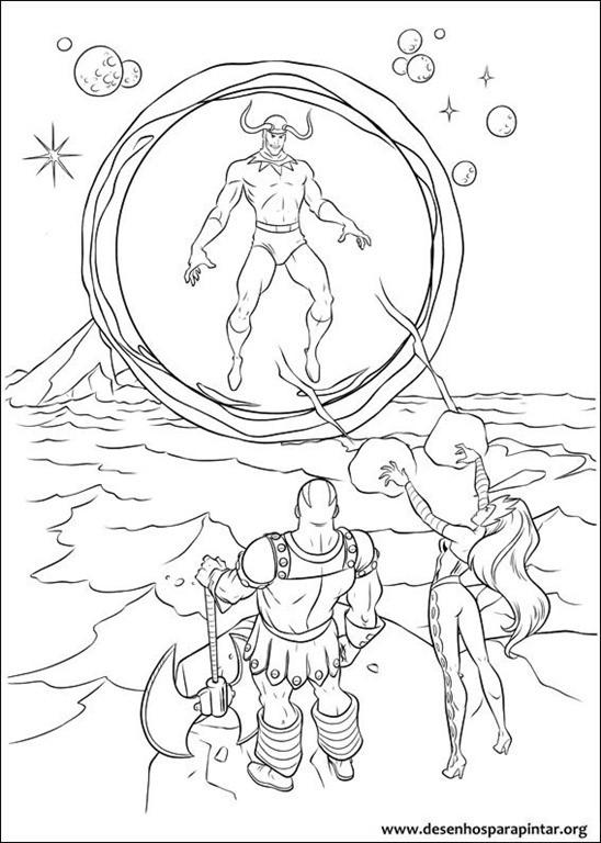 Thor Ausmalbilder  Thor o filho de Odin desenhos para imprimir colorir e