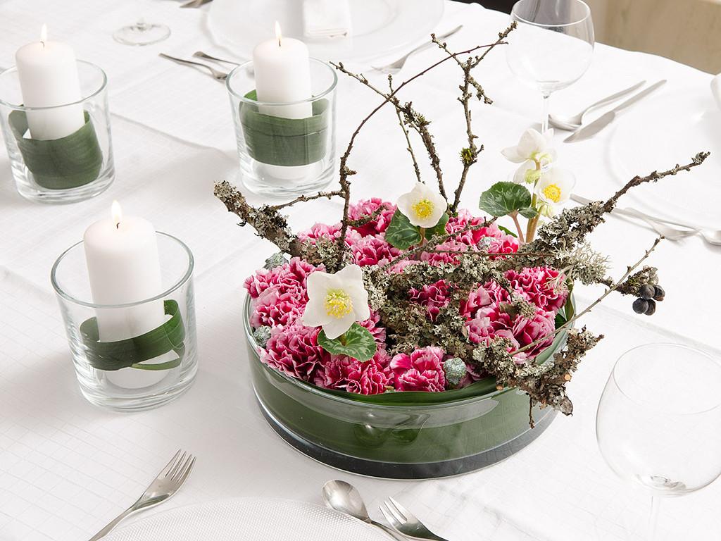 Tischdeko Geburtstag Blumen  Events und Tischdeko Hochzeit Konfirmation oder