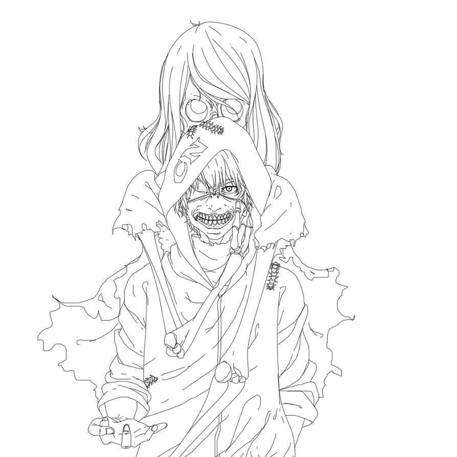 Tokyo Ghoul Ausmalbilder  Kaneki Tokyo Ghoul Coloring Pages