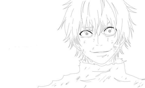 Tokyo Ghoul Ausmalbilder  tokyo ghoul kaneki coloring pages Drawing Board Weekly