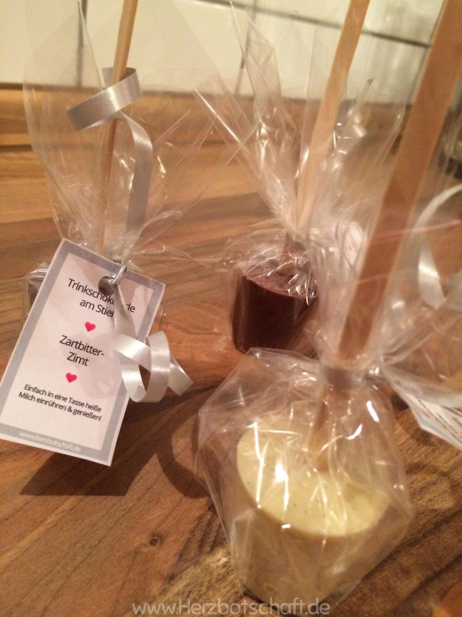 Trinkschokolade Am Stiel Diy  Rezept und Anleitung Schokolade am Stiel als Geschenkidee