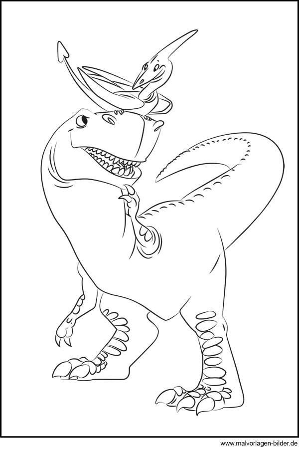 Tyrannosaurus Rex Ausmalbilder  Dinosaurier und Flugsaurier Gratis Ausmalbild