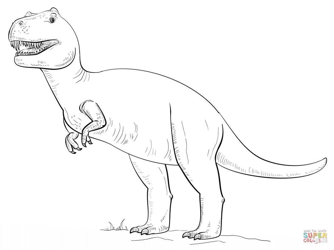 Tyrannosaurus Rex Ausmalbilder  Ausmalbild Tyrannosaurus Rex