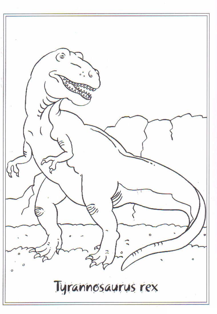 Tyrannosaurus Rex Ausmalbilder  Kids n fun